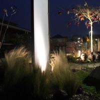 Gartenbeleuchtung Gartenlicht Acrylglas-Sichtschutzelement Albizia (Schlafbaum)