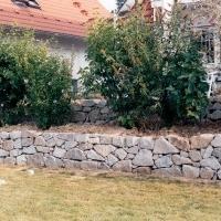 Trockenmauer aus Granit