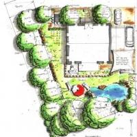 Gartenplanung.Bauerngarten.Nutzgarten.Rasen.Ihringen.Trockenmauer