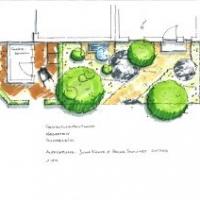 Gartenplanung: Eingangsbereich mit Klinker und Naturstein-Pflaster