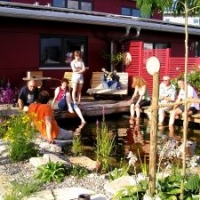 Meistertreffen am Teich in unserem Schaugarten