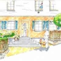 Gartenplanung: Eingangsbereich mit Staketenzaun und Bauern- und Rosengarten